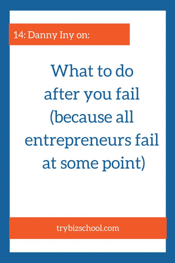 Entrepreneurs fail. That's a reality. But the difference between those that succeed over the long-term, and those who don't has a lot to do which what happens after the failure. Danny Iny explains what the right thing to do is after failing.