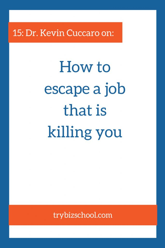 Ever felt like your job was killing you? Listen in to this episode to learn how to escape a job that isn't serving you, so you can go and do work that matters to you and the world.