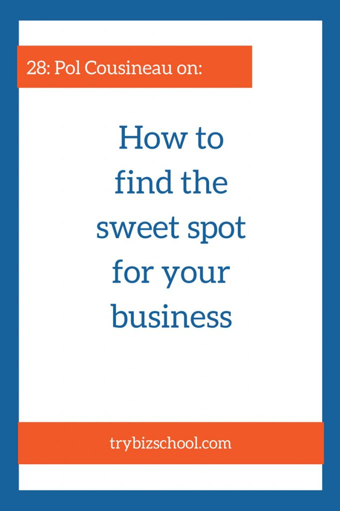 Struggling to find the sweet spot of your business? In this interview, Pol Cousineau explains a simple and duplicatable approach he used to find his.