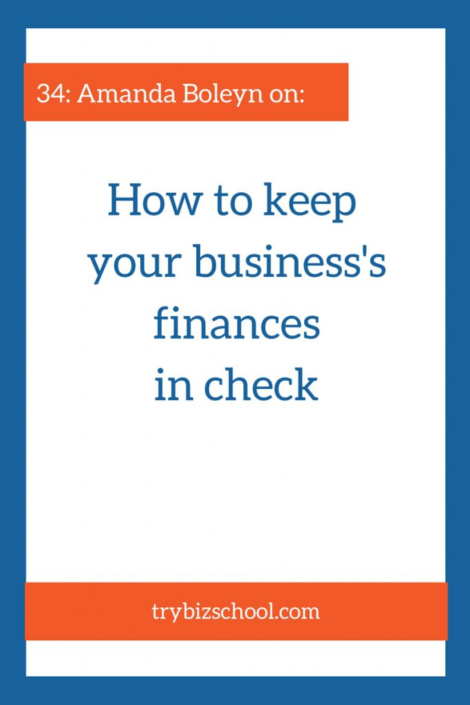 Business finances isn't always a fun topic. But putting and keeping them in order is essential to be able to make effective decisions about the health and growth of your company. In this episode Amanda Boleyn explains how she got her business' finances in check.