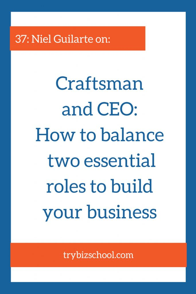 Being the CEO of your business is necessary. But you can't neglect your craft either. In this episode Niel Guilarte shares how he learned how to balance both essential roles.