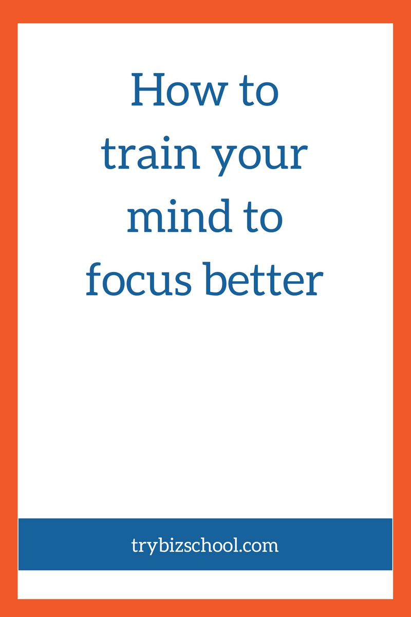 The ability to focus is essential when it comes to building your business. This interview explains how to train your mind to focus better.
