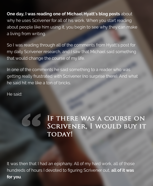 Learn Scrivener Fast insight