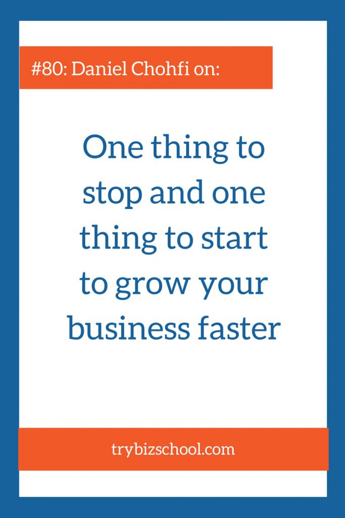 Sometimes the things we think will grow our business actually slow us our progress. In this episode, Daniel Chohfi explains what you common practice can slow your progress, and what you should do instead.
