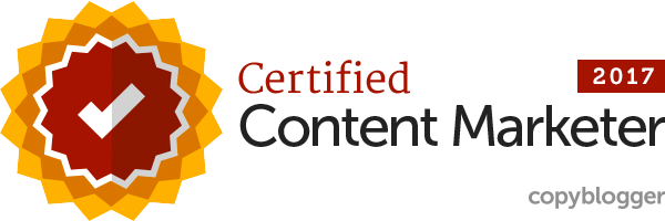 Copyblogger Certified Content Marketer Badge