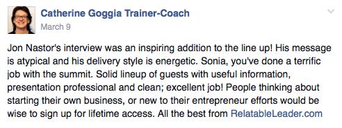 Catherine Goggia feedback