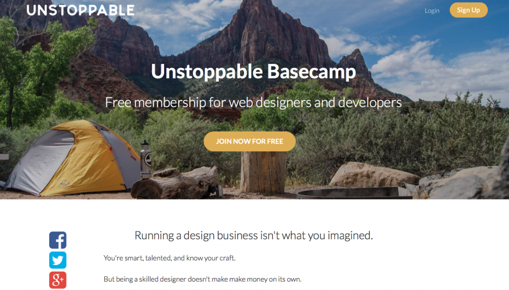 Erin E Flynn Unstoppable Base Camp free membership group for web designers