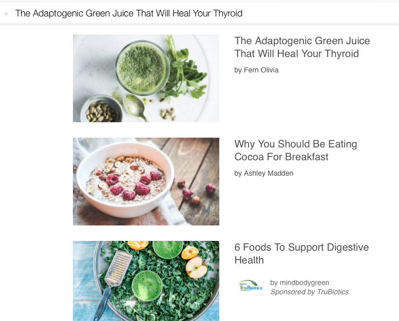 MindBodyGreen sends educational emails every day