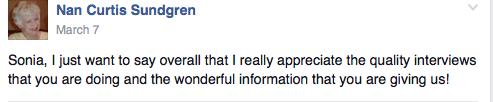 Nan Sundgren feedback