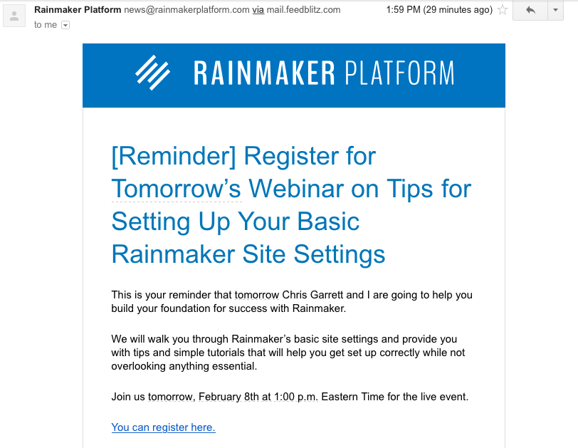 Rainmaker Platform training webinar