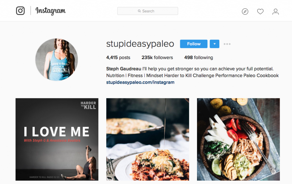 Stupid Easy Paleo Instagram