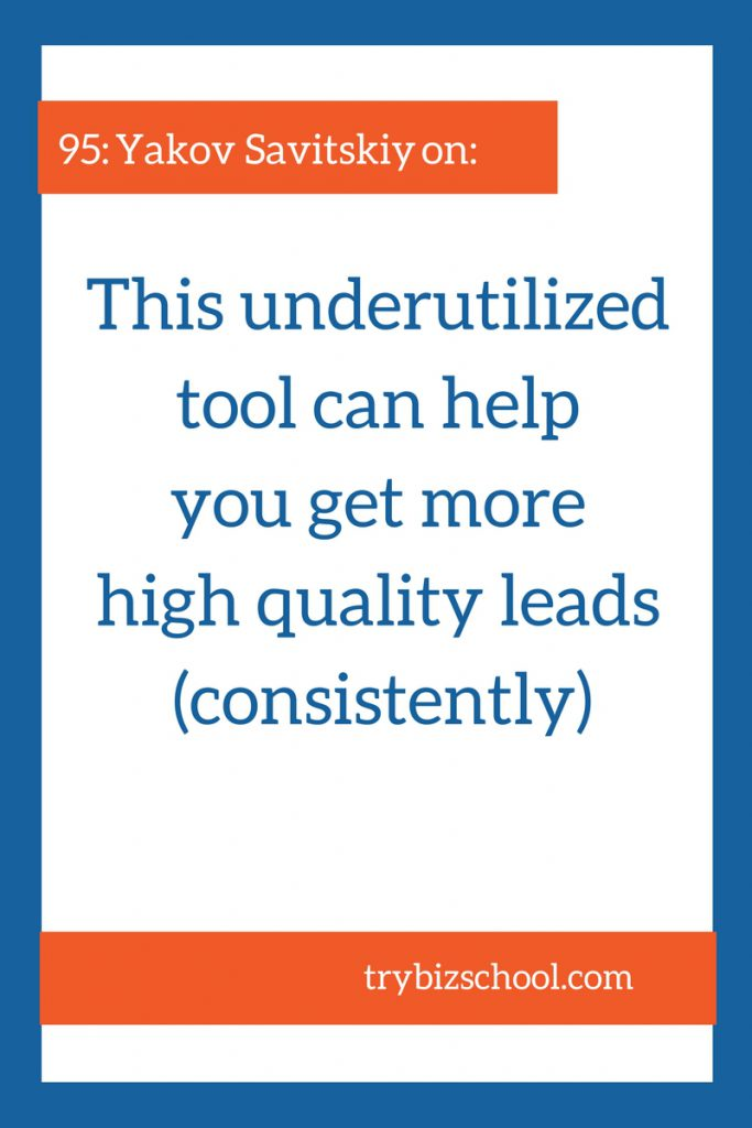 Entrepreneurs: You NEED a lead generation system. One that brings you high quality leads consistently. This underutilized tool can help you get the customers you want.