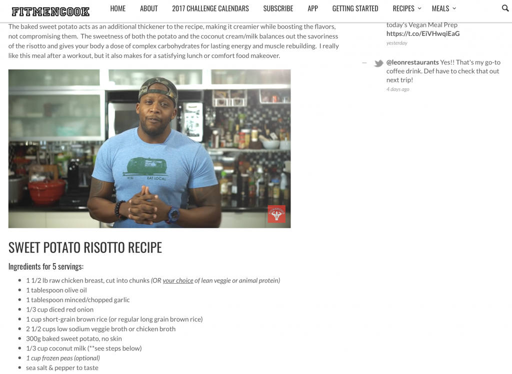Fit Men Cook website 2