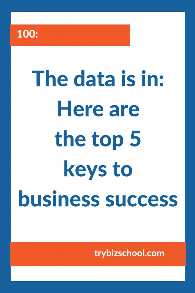 Entrepreneurs: The data is in- Here are the top 5 keys to business success