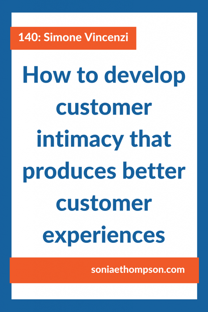 Customer intimacy is your unfair advantage. The more you know about your customer, the better position you will be in to deliver products, services, and customer experiences that make them love you.
