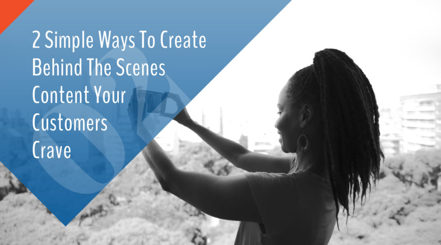 2 Simple ways to create behind the scenes content