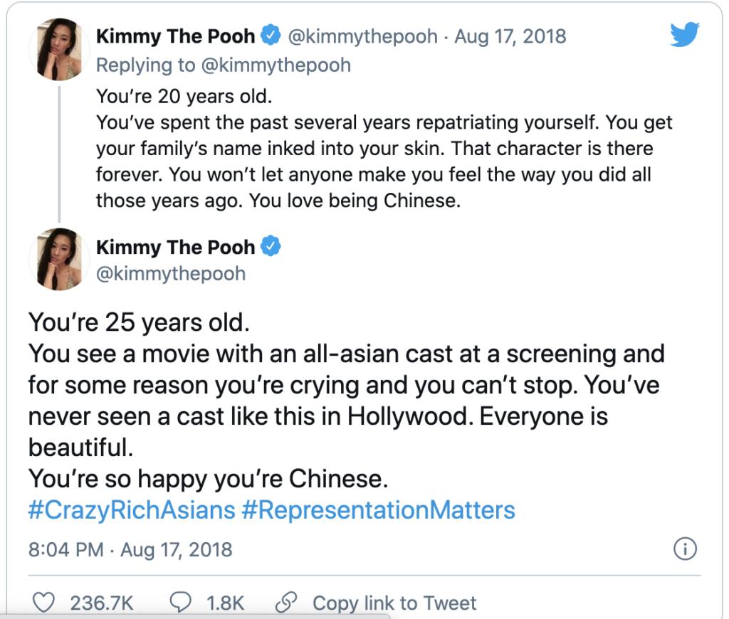 Crazy Rich Asians response - representation matters